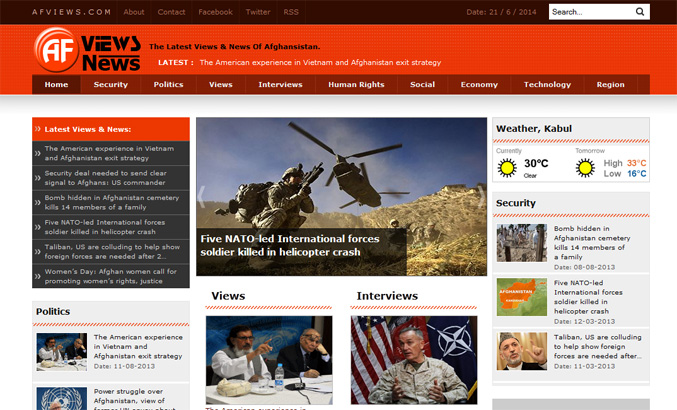 Portfolio - Afghan Views %26 News (www.afviews.com)