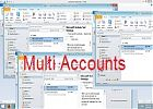 How to configure multiple email accounts to Microsoft outlook?