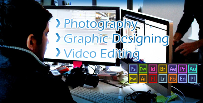 I've experince in the field of Graphic designing and video editing as well